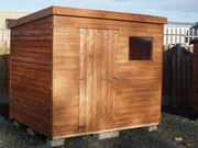 Rustic Overlap Pent Shed